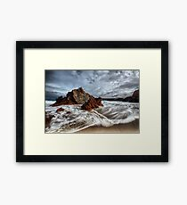 Dipping A Toe Framed Print