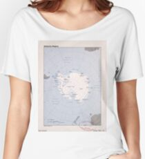 Map of the Antarctic Region (1982) Women's Relaxed Fit T-Shirt