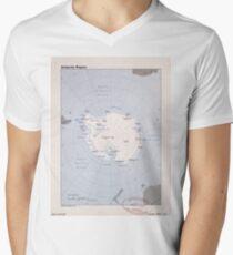Map of the Antarctic Region (1982) Men's V-Neck T-Shirt