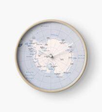 Map of the Antarctic Region (1982) Clock
