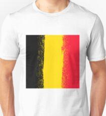 National Grunge Flag of Belgium Isolated. Symbol of Belgian Independence T-Shirt