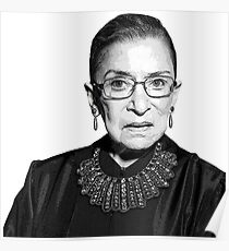 RBG Dissent Collar Ruther Bader Ginsburg Poster