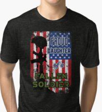 Proud Daughter of a Fallen Soldier Veterans Day Shirt Tri-blend T-Shirt