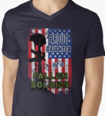 Proud Daughter of a Fallen Soldier Veterans Day Shirt Men's V-Neck T-Shirt