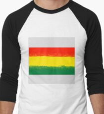 National Grunge Flag of Bolivia Isolated. Symbol of Bolivian Independence Men's Baseball ¾ T-Shirt