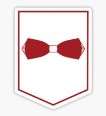 PAC Logo - Red and White (Small) Sticker