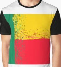 National Grunge Flag of Benin Isolated on White Background.  Indepence Symbol of Benin. Graphic T-Shirt