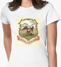 Historical Coat of Arms of Illinois  Women's Fitted T-Shirt