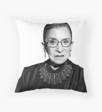 RBG Dissent Collar Ruther Bader Ginsburg Throw Pillow