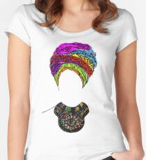 RC - Queen Headwrap Women's Fitted Scoop T-Shirt