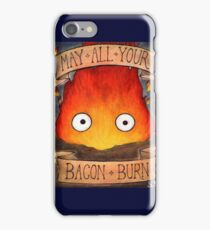 Studio Ghilbi Illustration: CALCIFER #3 iPhone Case/Skin