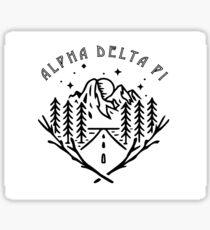 Alpha Delta Pi Adventure Sticker