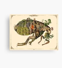 Whimsical Pop Botanical Flea #CreateArtHistory Canvas Print