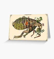 Whimsical Pop Botanical Flea #CreateArtHistory Greeting Card