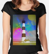 Psychedelic Lighthouse Women's Fitted Scoop T-Shirt