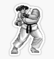 Logo Ryu Street Fighter 2 Black & White Sticker