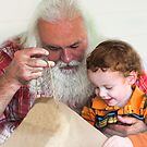 Kary with Uncle Santa by denise romano