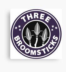 Three Broomsticks Canvas Print