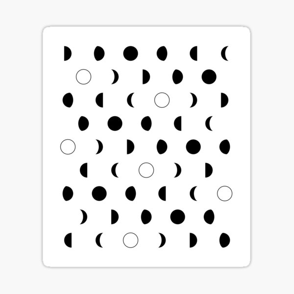 Moon phases pattern Sticker