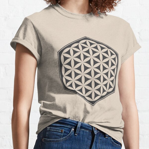 Hex Filled Flower of Life (light background) Classic T-Shirt