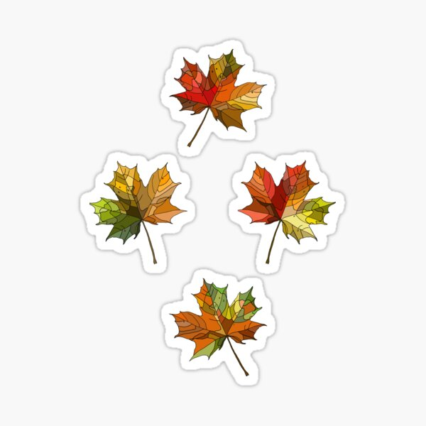 Autumn Leaves Sticker