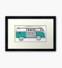 TRAVEL VAN Framed Print