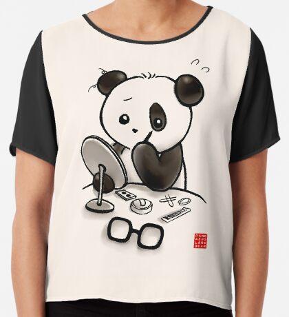 Panda Makeup Chiffon Top