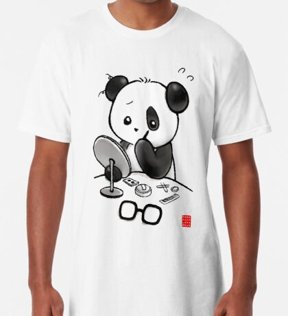 Panda Makeup Long T-Shirt