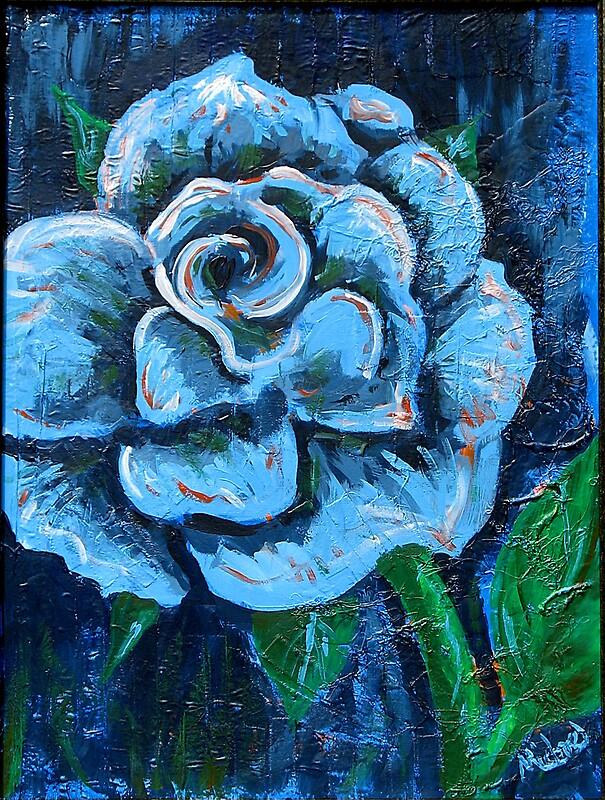 Quot Quot Blue Rose Quot Original Signed Acrylic Painting On Canvas