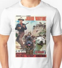 Staffordshire Bull Terrier Art Canvas Print - The Searchers Movie Poster T-Shirt