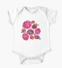 Inky Roses One Piece - Short Sleeve