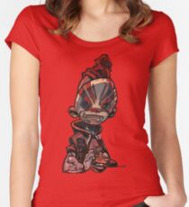 Burger Guy Cesar  Women's Fitted Scoop T-Shirt