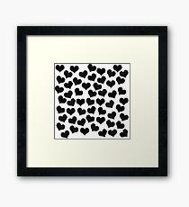 Black Hearts Framed Print