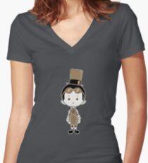 Little Inventor Women's Fitted V-Neck T-Shirt
