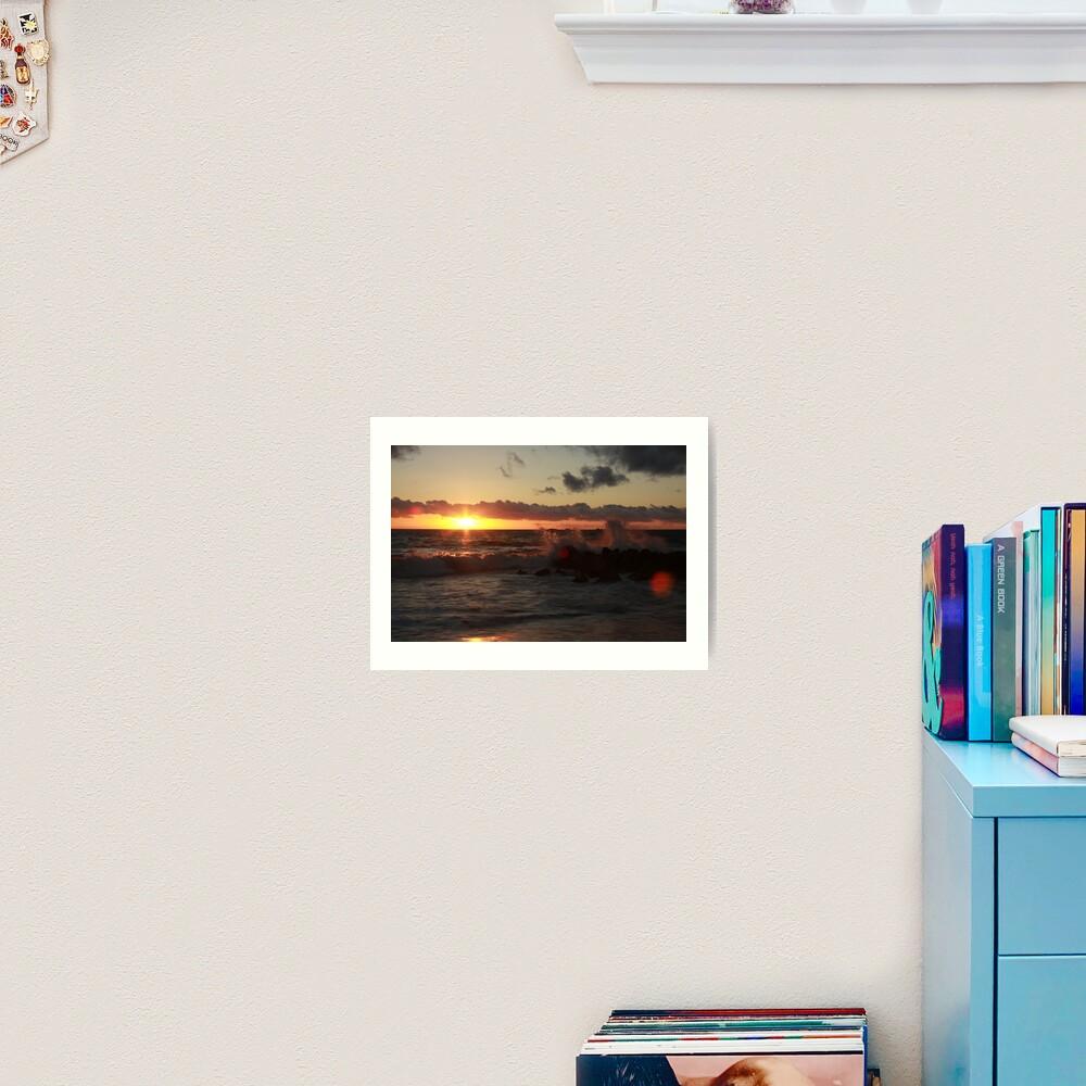Sunset at Burns Beach Art Print