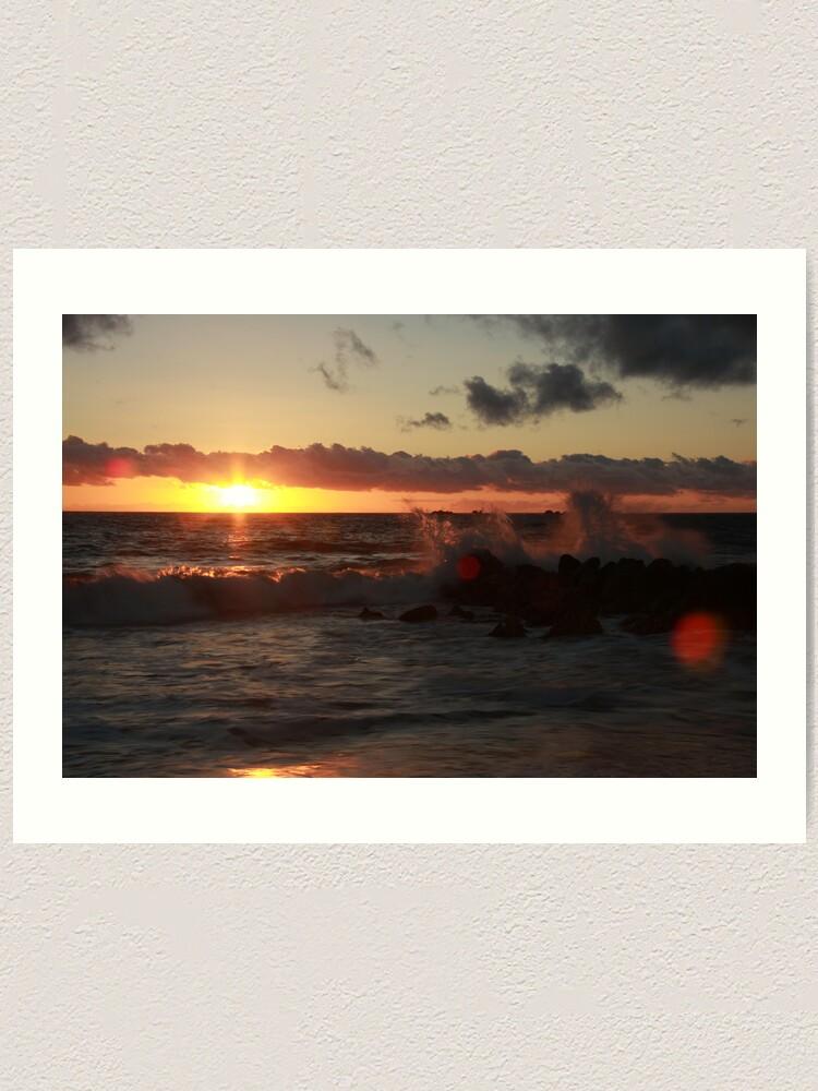 Alternate view of Sunset at Burns Beach Art Print