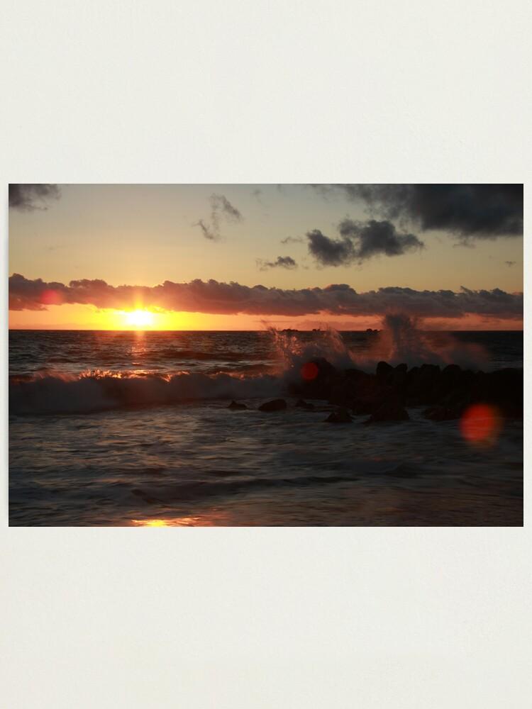Alternate view of Sunset at Burns Beach Photographic Print