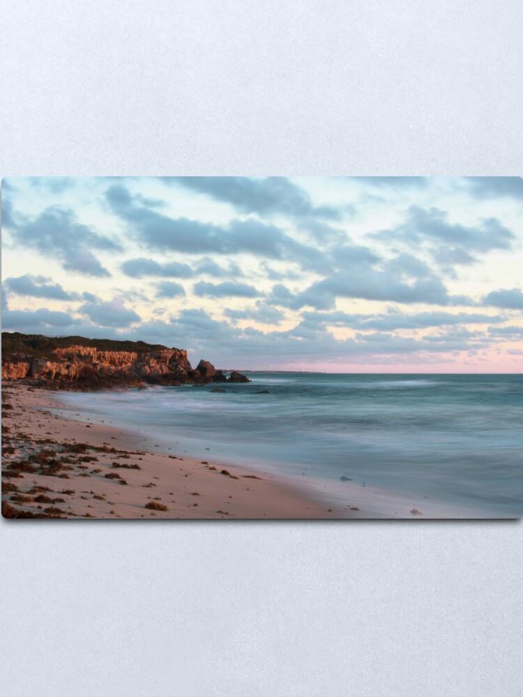 Alternate view of Cliffs at Burns Beach Metal Print