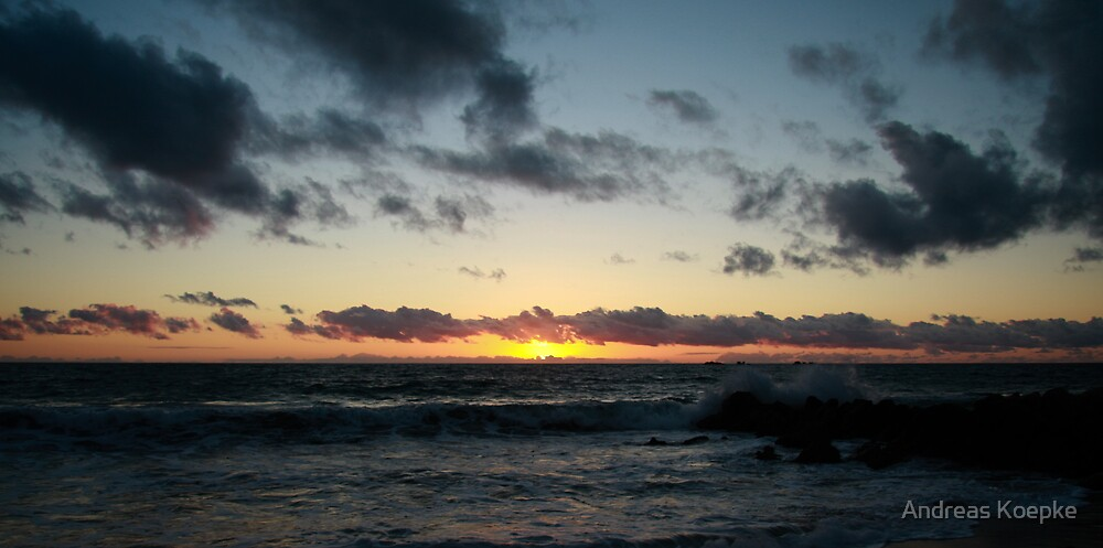 Sunset at Burns Beach by Andreas Koepke
