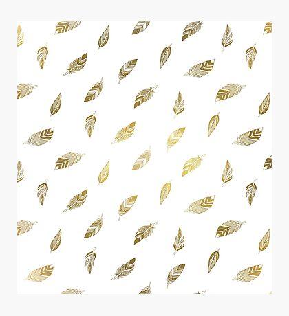 Motif plumes dorées Impression photo