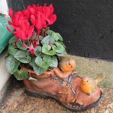 Old Boot Planter by lezvee