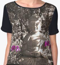 Zen Buddha In The Spritual Garden Women's Chiffon Top