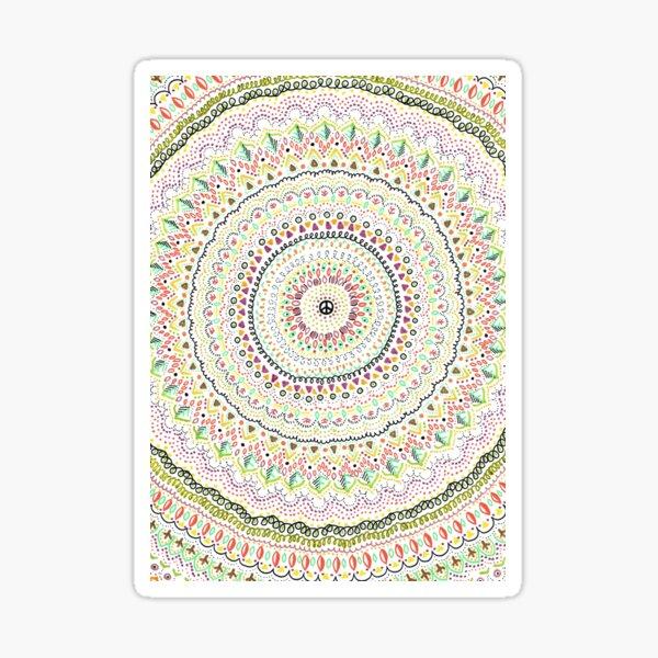 Mandala peace and love hippie Sticker