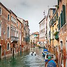 Canal Amidst Colourful Buildings Against Sky - Venice - Italy by Yannik Hay