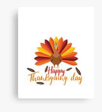 Happy Thanksgiving 2017 Design shirt Canvas Print