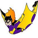 Bat Girl Leap (light skin) by Sophersgreen