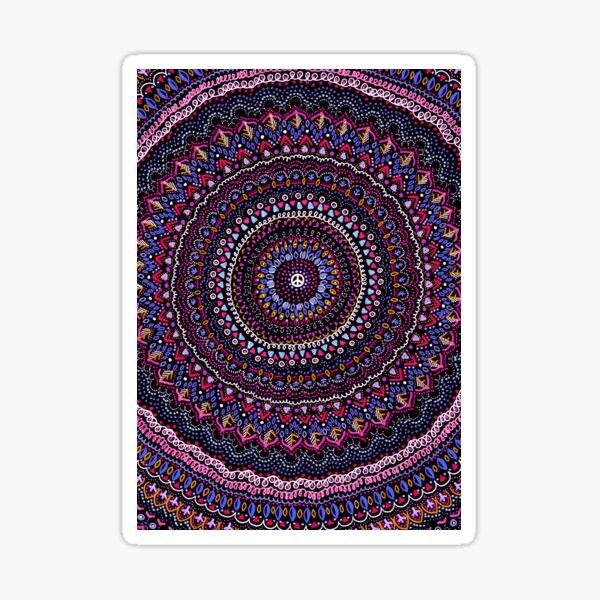 Mandala peace pink Sticker