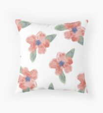 Minimalist Flowers Throw Pillow
