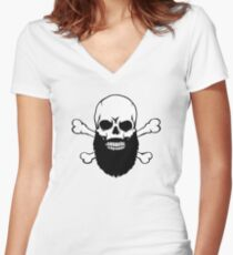 Bearded Skull Women's Fitted V-Neck T-Shirt