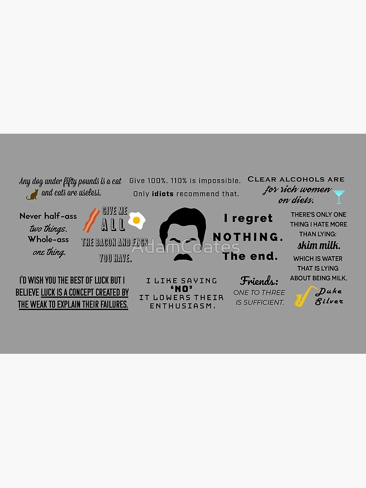 Ron Swanson - Quotes by AdamCoates
